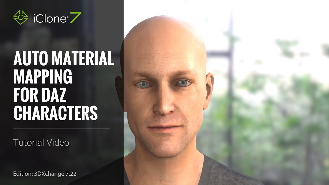 iClone 7 21 Tutorial - Daz Genesis Pipeline Part 2: Auto Material  Enhancement for Character Import