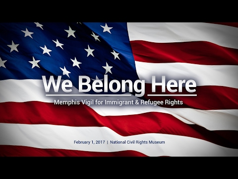 We Belong Here: Memphis Vigil for Immigrant & Refugee Rights ~ Shaykh Dr Yasir Qadhi