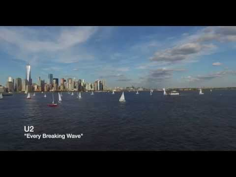 NYC - 4K - Sailing Regatta - New York Harbor - U2 Every breaking Wave