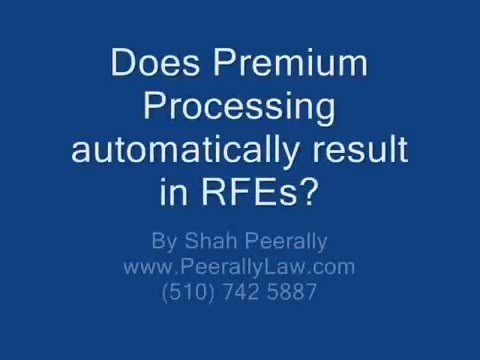 Does Premium Processing automatically result in a RFE?