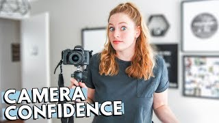 HOW TO BE CONFIDENT ON CAMERA: Tips for talking to a camera as a small YouTuber   THECONTENTBUG