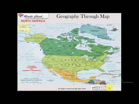 World Geography through MAP in HINDI NORTH AMERICA Part 1 For UPSC ...