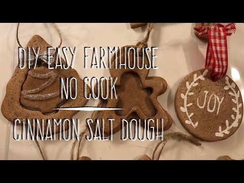 DIY EASY NO-Cook Cinnamon Salt Dough