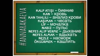 Турецкий словарь №25 Здоровье, медицина, гигиена / Ч. 4