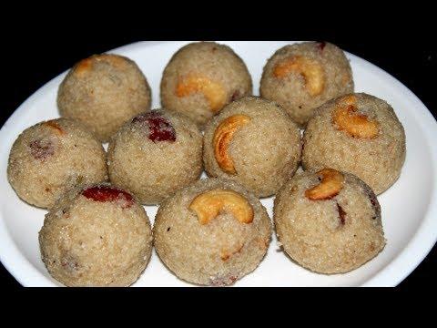 Easy Rava Laddu Preparation in Telugu (రవ్వ లడ్డు చేయడం ఎలా)