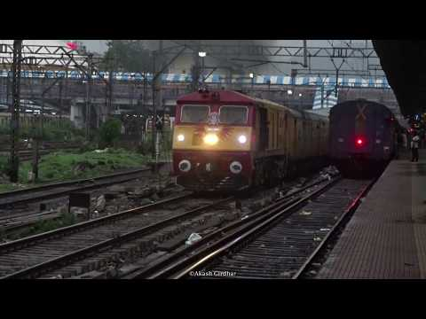 Majestic Chugging WDP-3A Tejas Express departs from Thane !