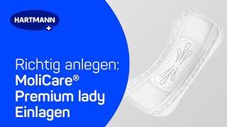 Produktvideo zu Inkontinenz-Einlagen Hartmann MoliCare Premium Lady Pad