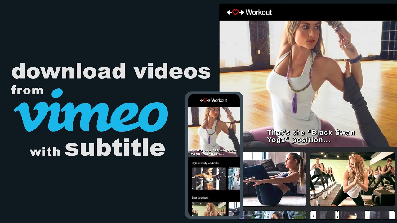 Download Videos From Vimeo With Subtitles