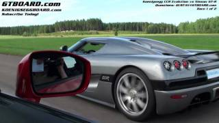 HD : Nissan GTR vs Koenigsegg CCR Evolution Race 1/2
