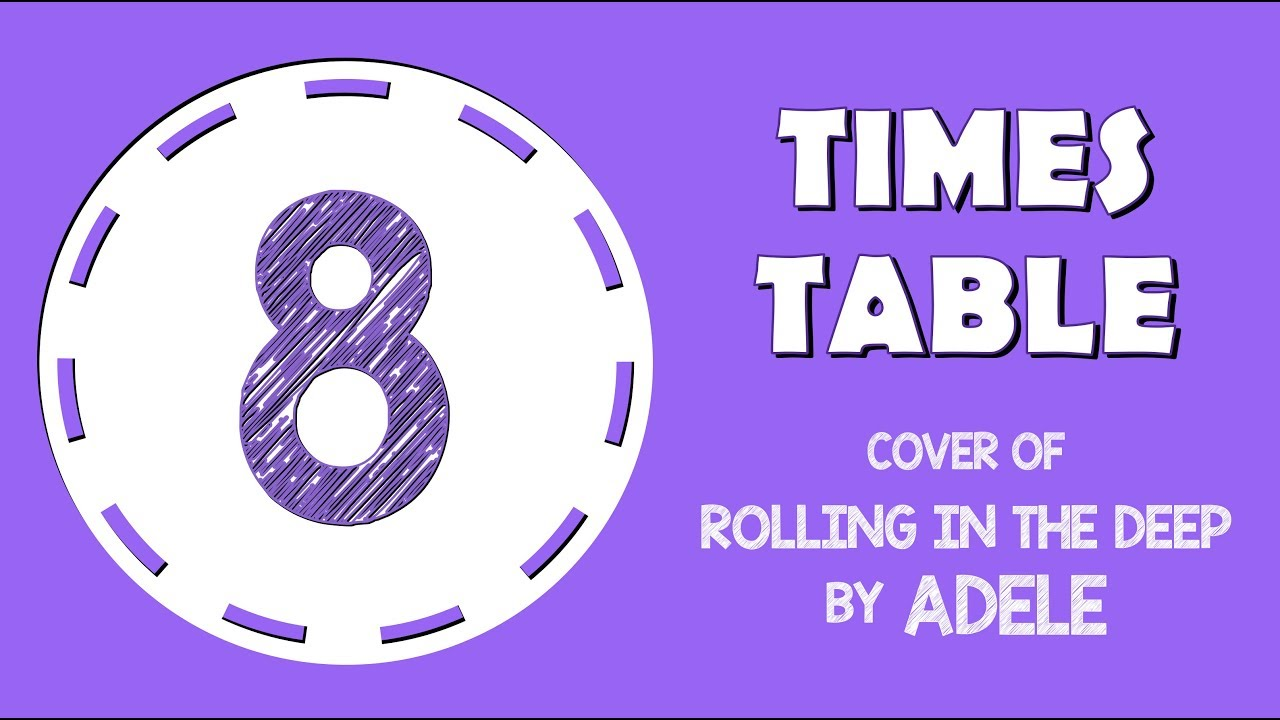 8 Times Table Song Cover Of Rolling In The Deep By Adele Youtube
