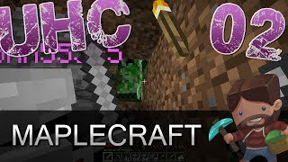 Minecraft | Maplecraft UHC Ep. 02 | Looking for Gold