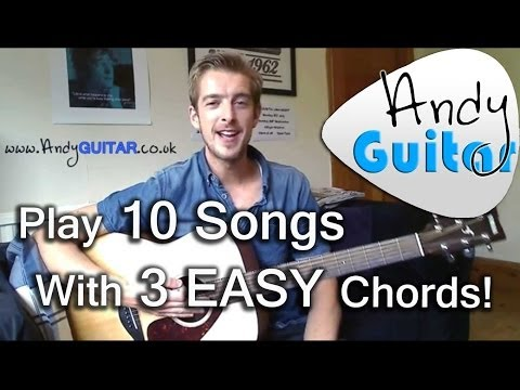 How to play G, C and D chords | Play 10 guitar songs with three chords | Beginner Guitar Lesson