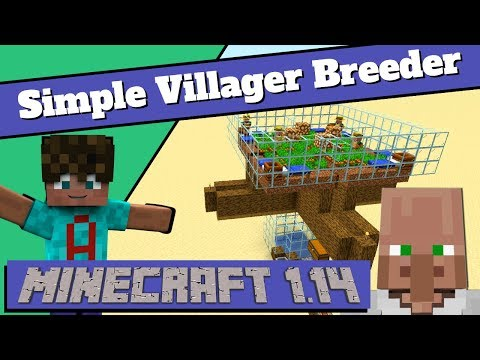 How To Make A Villager Breeder In Minecraft 1.14: Easy Villager Breeder Tutorial (Avomance 2019)