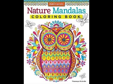 Nature Mandalas Coloring Book Slideshow