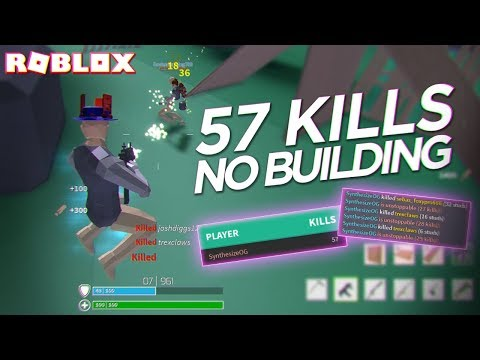 I DID THE IMPOSSIBLE... 57 KILLS WITHOUT BUILDING in STRUCID (Roblox)