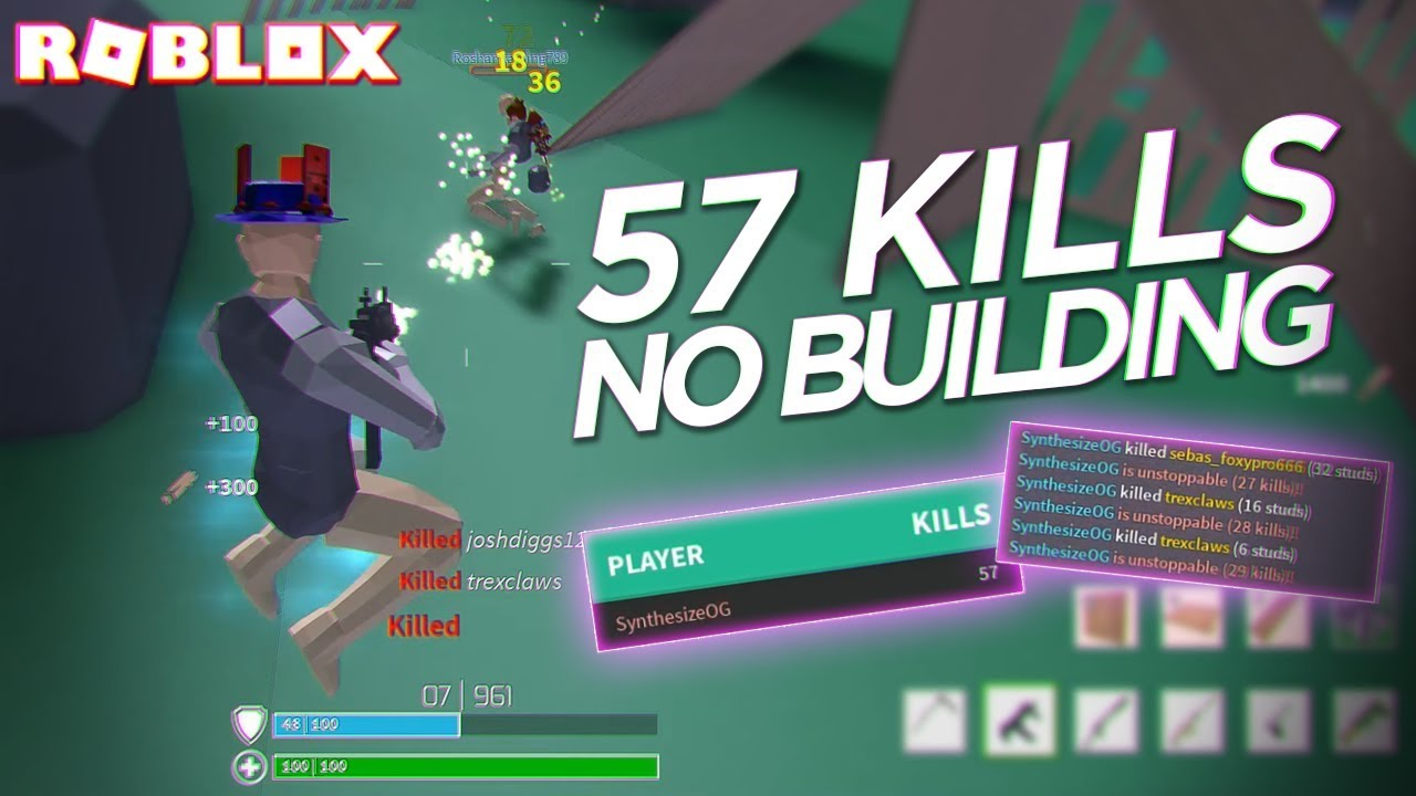 I DID THE IMPOSSIBLE... 57 KILLS WITHOUT BUILDING in ...