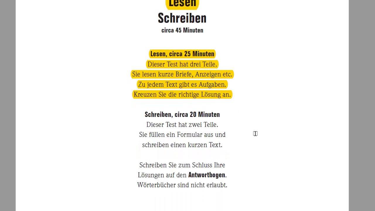 подготовка к экзамену Start Deutsch 1 A1 Lesen чтение Briefe