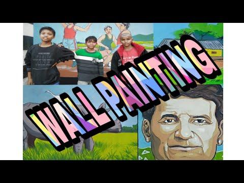 Wall painting //Guwahati,Dhirenpara snehalaya//Assam