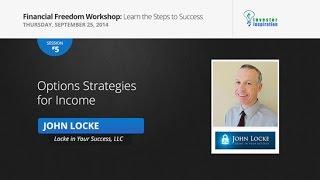 Options Strategies for Income | John Locke