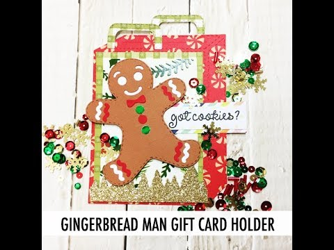 Gingerbread Man Gift Card Holder with Angeline ScrappyScrappy