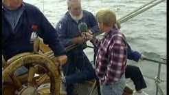 Kvartsita, en seglats med ett skolfartyg. Reportage i TV Fyrstad