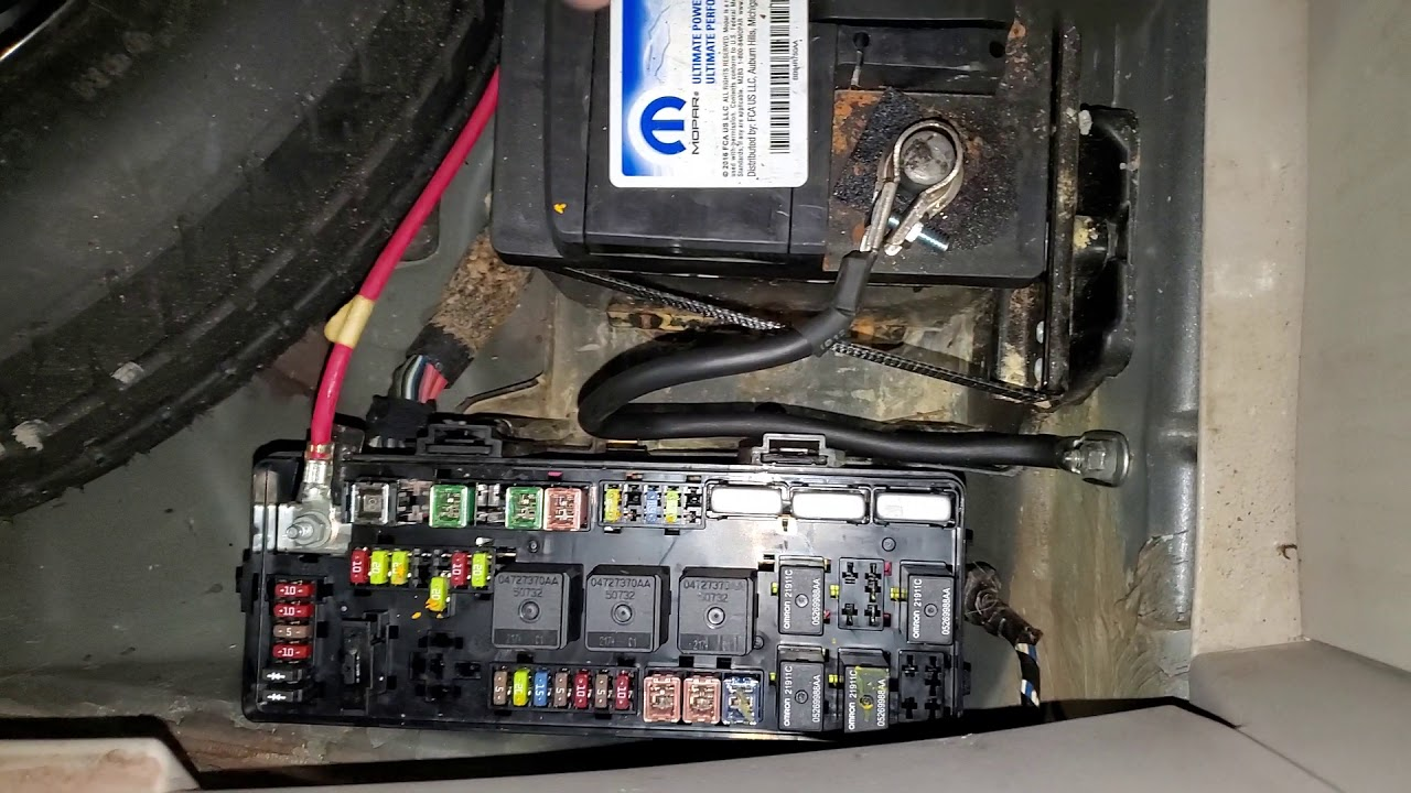 2006 Dodge Magnum Charger Fuel Pump Relay & Fuse Location ...