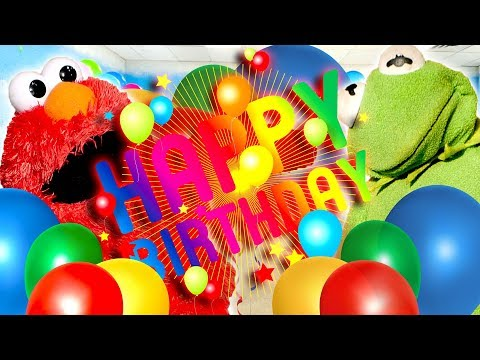 Elmo Has a Birthday Party with Kermit and Friends GONE WRONG!