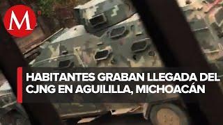 Presuntos integrantes del CJNG toman calles de Michoacán