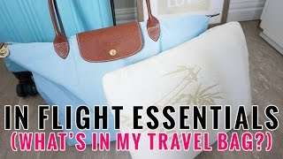 In Flight Essentials | What's in my Longchamp Travel Bag? | Charmaine Dulak