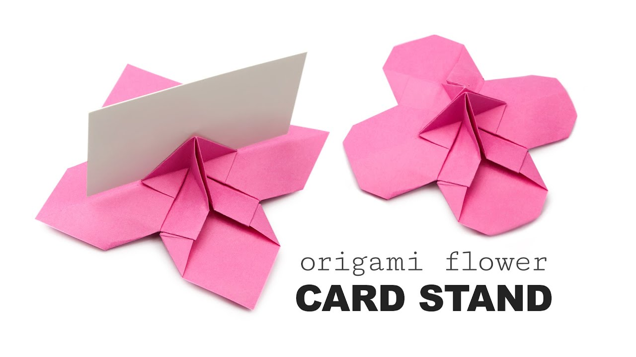 Origami Flower Shaped Card Holder Tutorial Diy Wedding