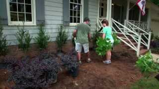Episode 3:  Planning A Corner Flowerbed And Planting Large Trees
