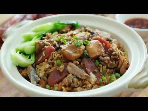 "Delicious and Quick ""Claypot"" Chicken Rice - Rice Cooker Recipe - 电饭锅煲仔饭"