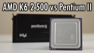 How does the AMD K6-2 500 perform against Pentium II?