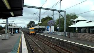 Waratah Train passes through Summer Hill NSW