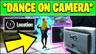 DANCE ON CAMERA FOR 10S AT SWEATY SANDS & CAMERA LOCATION (Fortnite Season 3 Week 4 Locations)