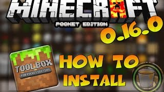 MINECRAFT PE 1.2 TOO MANY ITEMS MOD REVIEW - HOW TO INSTALL TOOL BOX MOD IN MINECRAFT PE 0.16.0