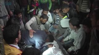 مصر العربية  فلسطينيون يشيعون شابا قتله الجيش الإسرائيلي قرب حدود غزة