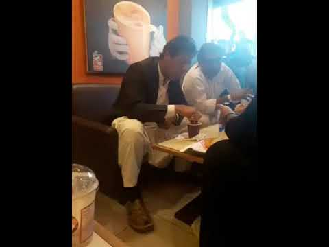Imran Khan Stops At Bakery For A Quick Coffee