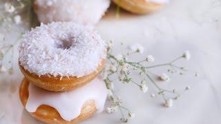 How To Make Coconut Mini Doughnut ♥ Baked-petit Coconut Donuts