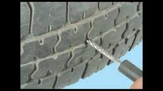 как отремонтировать бескамерную шину(Если в дороге вы прокололи колесо, и у вас бескамерная шина, т о ремонт можно провести самостоятельно. Для..., 2014-05-12T08:59:04.000Z)