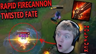 RAPID FIRECANNON TWISTED FATE MID (CRAZY RANGE AND BURST) - League of Legends Commentary