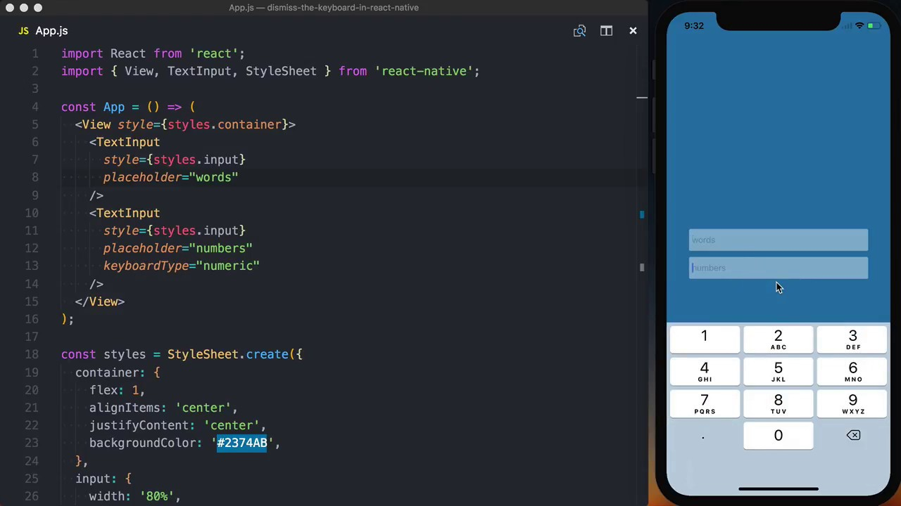 Dismiss the Keyboard in React Native from Anywhere