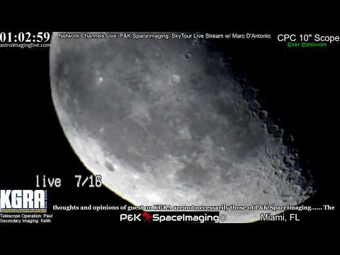 THE MOON and VENUS: Live Stream: 7/16/17 (Very Clear From 3am Onward)