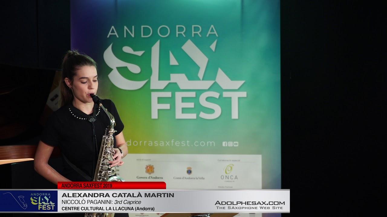 Andorra SaxFest 2019 1st Round   Alexandra Catala Martin   3rd Caprice by Niccolo Paganini