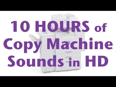 10 Hours of Copy Machine, Photocopier, Copier Noise Sounds in HD