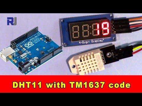 Using DHT22 Temperature and humidity sensor with TM1637 display