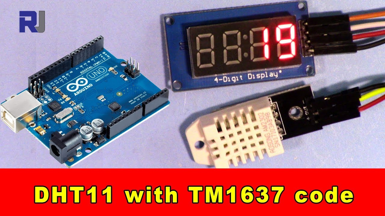 Arduino code and video for DHT22 Temperature and Humidity