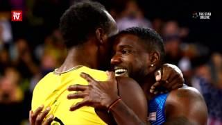 Gatlin stuns Bolt to win 100m world title