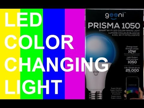 GEENI 1050 PRISMA LED COLOR CHANGING LIGHT UNBOXING & REVIEW (MERKURY  INNOVATIONS)