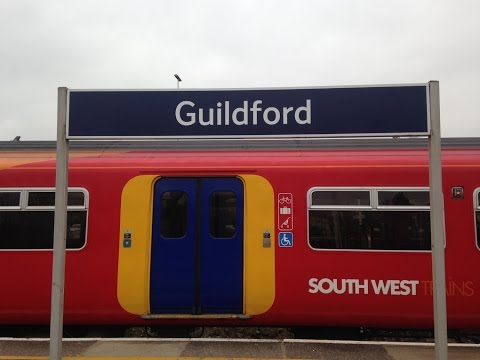 Full Journey on South West Trains from London Waterloo to Guildford (via Cobham)